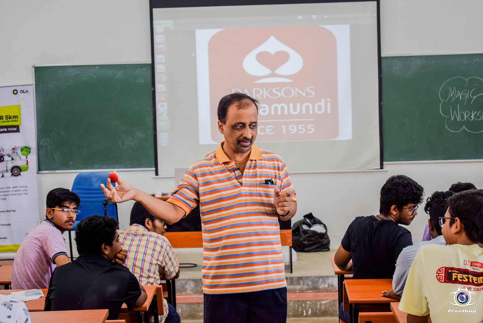 Magic workshop in Festember 2017 at NIT, Trichy